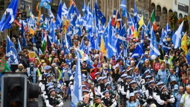 Photo of Marchan miles por independencia de Escocia