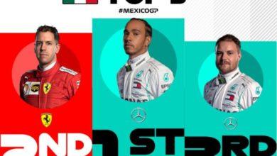 Photo of Lewis Hamilton gana el Gran Premio de México 2019