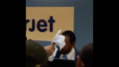 Photo of Video: #LordInterjet golpea a cliente