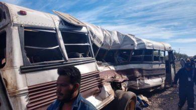 Photo of Tren embiste a camión de jornaleros en Sonora; al menos 5 muertos