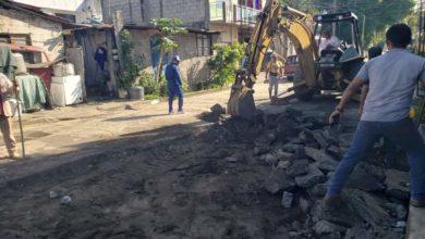 Photo of Inicia construcción de calle en Catemaco