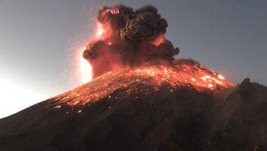 Photo of Video: Popocatépetl amanece con explosión