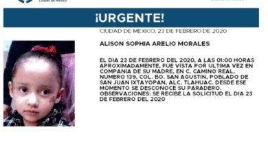 Photo of Alerta Ámber por niña de tres años desaparecida en CDMX
