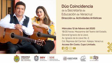 """Photo of Este miércoles concierto del """"Dúo Coincidencia"""" en el Teatro del Estado"""