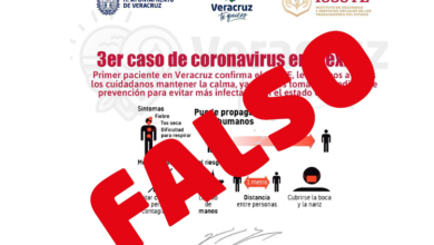 Photo of Falso el rumor de coronavirus en Veracruz