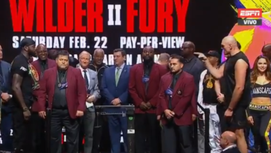 Photo of Listos Wilder-Fury y Navarrete-Santisima tras pesaje