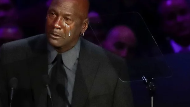 Photo of Michael Jordan llora en homenaje a Kobe Bryant