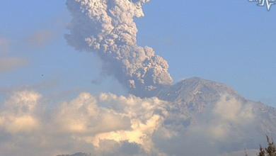 Photo of Explosión de Popocatépetl alcanzó mil 200 metros