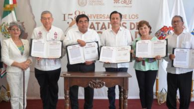 Photo of Sólo Barbosa acompaña a Cuitláhuac en evento