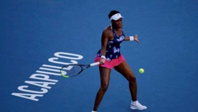 Photo of Venus Williams, eliminada en su regreso al Abierto de Acapulco