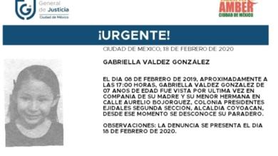 Photo of Se emite alerta amber para localizar a la niña Gabriela Valdez
