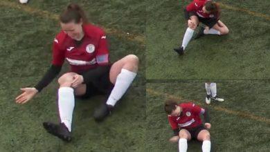 Photo of Jugadora se fractura la rodilla, se la acomoda a golpes y regresa a jugar