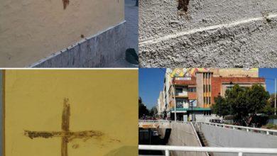 """Photo of Siguen apareciendo """"cruces de caca"""" en Guadalajara"""
