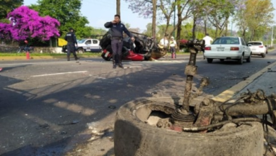 Photo of Se registra aparatoso accidente en Av. Lázaro Cárdenas, Xalapa