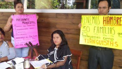 Photo of Piden Tianguistas intervención del alcalde para poder trabajar