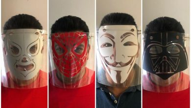 Photo of Mexicanos crean caretas con diseños de luchadores y superhéroes