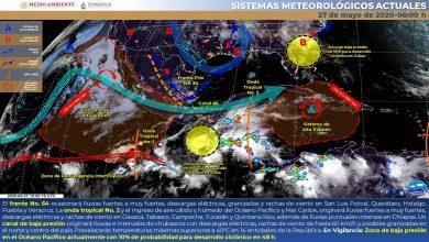 Photo of Lluvias muy fuertes en Veracruz por paso del FF64 y la OT2