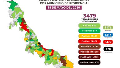 Photo of Llega Veracruz a 3 mil 479 casos de Covid-19 y 478 defunciones