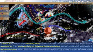 Photo of Advierten lluvias de intensas a torrenciales en Veracruz