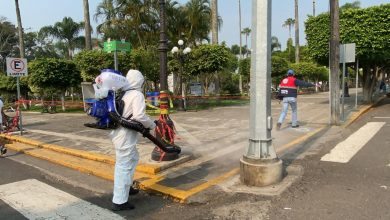 Photo of Desinfectan el centro de Fortín