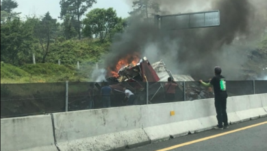 Photo of Trailer se vuelca en carretera Xalapa-Perote