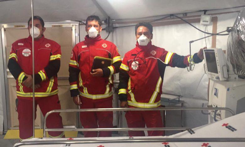 Cruz Roja inaugura hospital de campo en el INER para pacientes con Covid – El Democrata