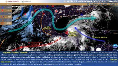 Photo of Lluvias muy fuertes en el sur de Veracruz pos paso de «Cristobal»