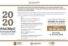 Photo of Extienden al 30 de junio el plazo para recepción de proyectos PACMyC 2020