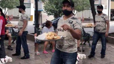 Photo of Joven reparte bolillo para el susto, en las calles de CDMX tras el sismo #Video