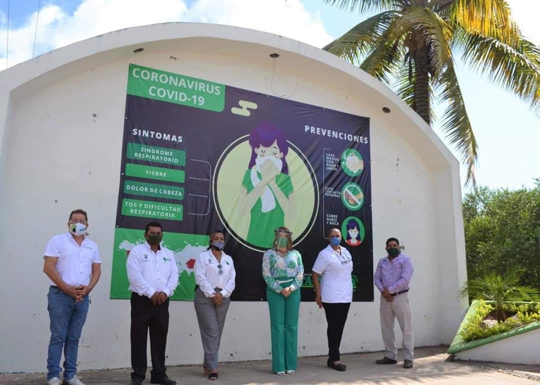 Toque de queda en Tamiahua provoca que Ayuntamiento donde equipo a la población y centros de Salud