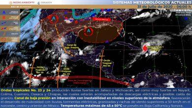 Photo of Lluvias fuertes en Veracruz con descargas eléctricas y posible caída de granizo