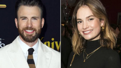 Photo of Captan a Chris Evans y Lily James juntos