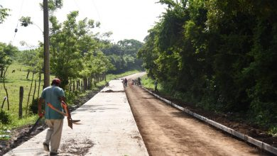 Photo of Colocan concreto hidráulico al camino Arroyo Limón- El Nopal en San Andrés