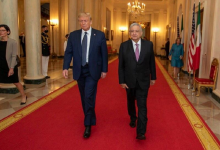 Photo of AMLO cena con Trump y empresarios mexicanos