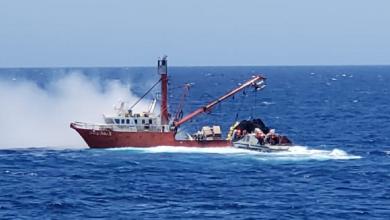Photo of Semar rescata a pescadores de incendio en un buque