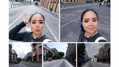 Photo of #Ladyinmortal camina por calles de Xalapa