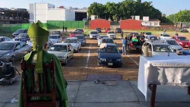 Photo of Feligreses de Morelos celebran primera misa en sus vehículos