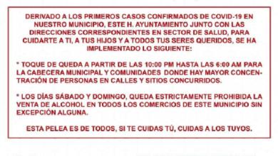 Photo of Implementan Toque de Queda en Tlaltetela tras primer caso de Covid-19