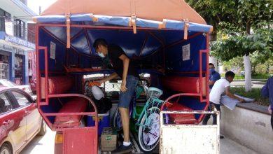 Photo of Sanitizan vehículos del servicio del transporte público en Yecuatla