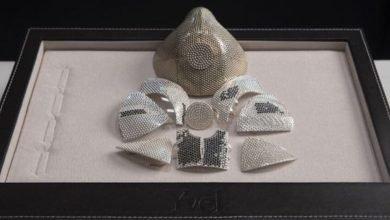 Photo of El cubrebocas de 1,5 millones de dólares; tiene oro blanco y diamantes