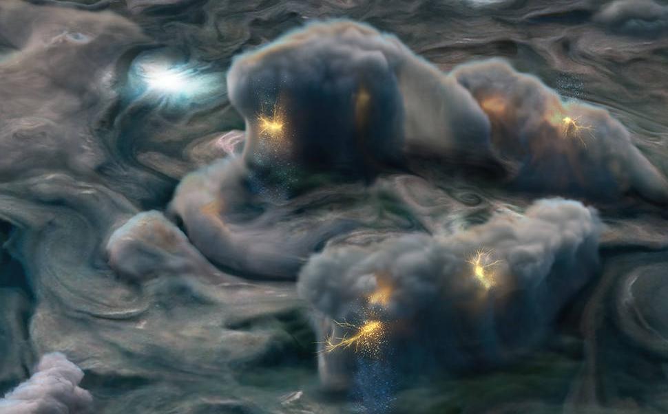 Las exóticas tormentas eléctricas de Júpiter (Fotonota)