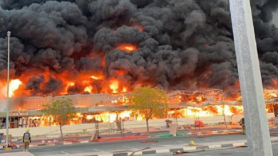 Photo of Video: Incendio consume mercado en Emiratos Árabes