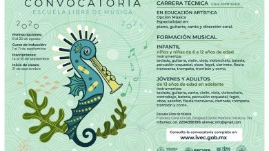 Photo of Emite IVEC convocatoria para el ciclo escolar 2020-2021 de Escuela libre de Música