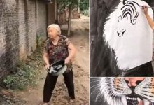 Photo of Abuelita rompe internet al crear una obra de arte con una tina #Video