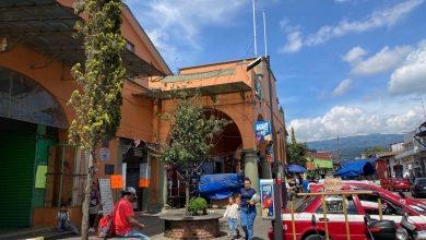 Photo of Ni gel antibacterial proporciona ayuntamiento en mercado de Coatepec