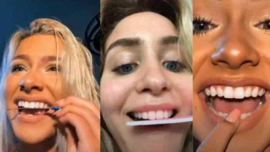 Photo of Personas se liman los dientes para tenerlos parejos por el nuevo reto de Tik Tok