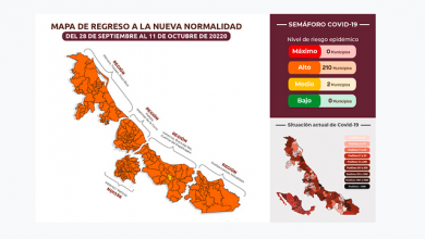 Photo of 273 casos nuevos, municipios en naranja y amarillo