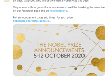 Photo of Premios Nobel serán a la distancia