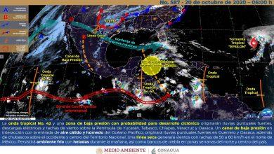 Photo of Lluvias fuertes con descargas eléctricas y rachas de viento en Veracruz