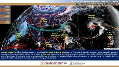 Photo of Nublados y lluvias fuertes con descargas eléctricas en el sur de Veracruz